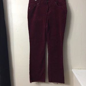 Wine colored Flare Corduroy Pants